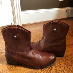 Frye Melissa short boots cognac 9 medium